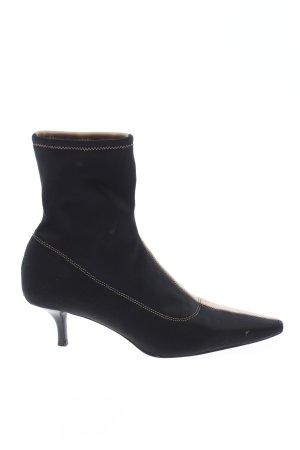Zara Schlüpf-Stiefeletten schwarz-wollweiß Casual-Look