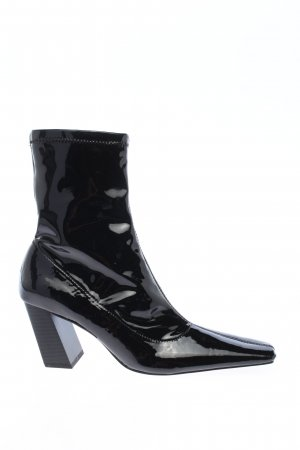 Zara Schlüpf-Stiefeletten schwarz Casual-Look