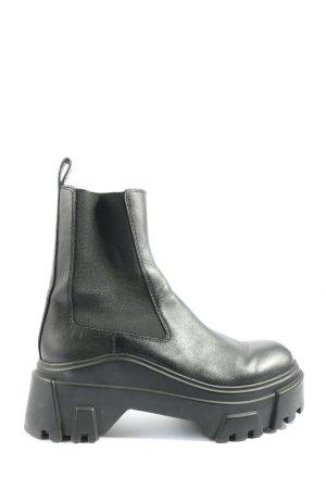 Zara Slip-on laarzen zwart casual uitstraling