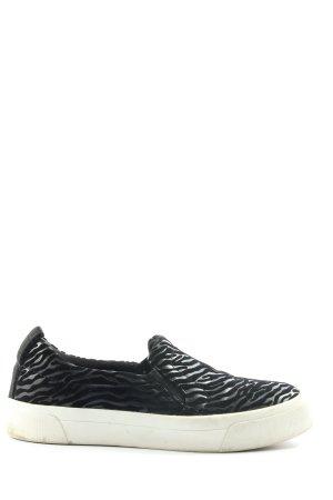 Zara Slip-on Sneakers black animal pattern casual look