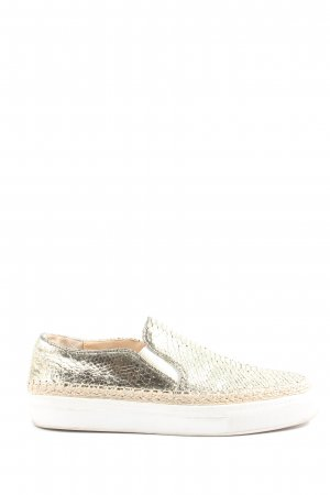 Zara Slip-on Sneakers gold-colored allover print casual look