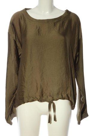 Zara Schlupf-Bluse braun Casual-Look