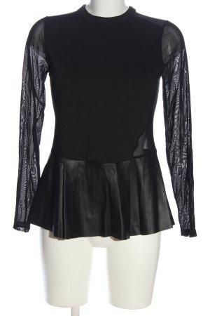 Zara Schlupf-Bluse schwarz Casual-Look