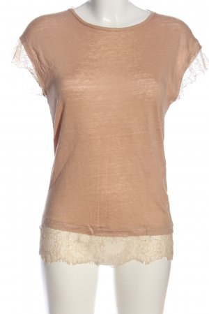 Zara Strickshirt nude Casual-Look