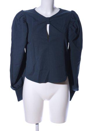 Zara Schlupf-Bluse blau Business-Look
