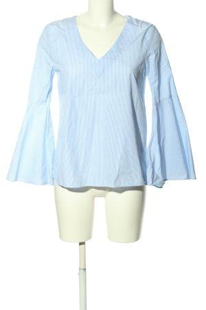Zara Schlupf-Bluse blau Streifenmuster Business-Look
