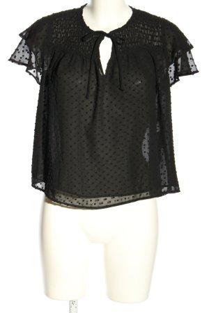 Zara Schlupf-Bluse schwarz Punktemuster Elegant