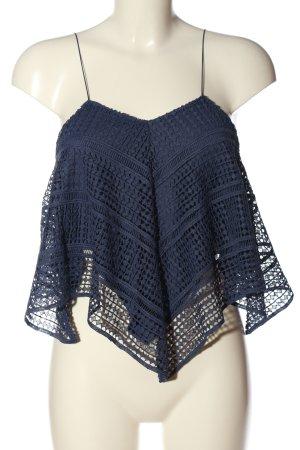 Zara Schlupf-Bluse blau Casual-Look