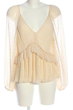 Zara Slip-over Blouse primrose striped pattern casual look