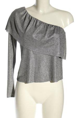 Zara Schlupf-Bluse silberfarben Casual-Look