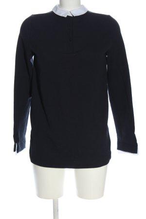 Zara Schlupf-Bluse schwarz-weiß Casual-Look