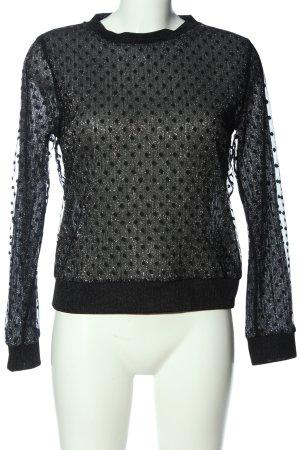 Zara Schlupf-Bluse schwarz Glanz-Optik