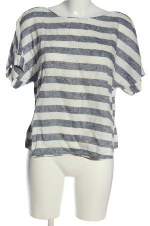 Zara Schlupf-Bluse weiß-schwarz meliert Casual-Look
