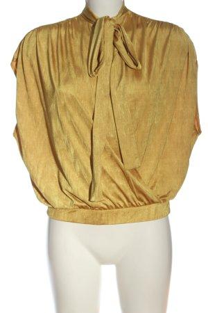 Zara Schlupf-Bluse goldfarben Casual-Look