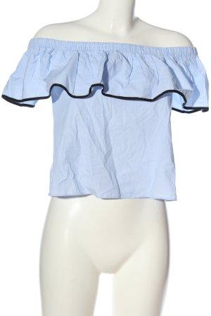 Zara Schlupf-Bluse blau-schwarz Casual-Look