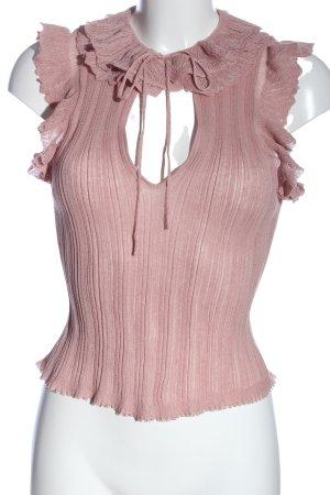 Zara Schlupf-Bluse pink Casual-Look