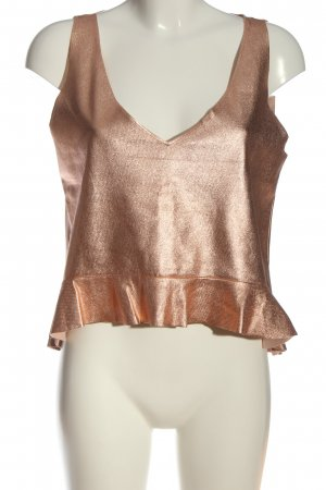 Zara Schlupf-Bluse bronzefarben Casual-Look