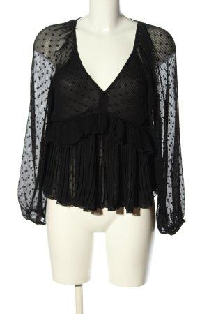 Zara Schlupf-Bluse schwarz klassischer Stil