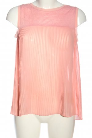 Zara Schlupf-Bluse nude-pink Casual-Look