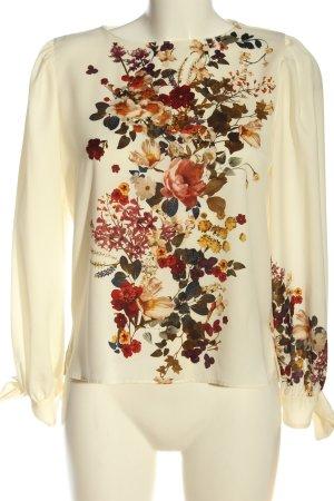 Zara Schlupf-Bluse Blumenmuster Business-Look