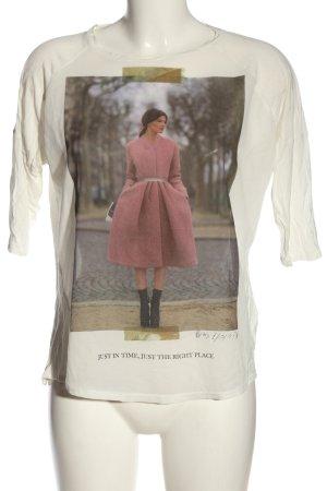 Zara Schlupf-Bluse Motivdruck Casual-Look