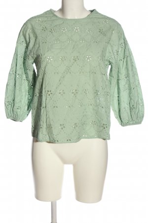 Zara Schlupf-Bluse grün Casual-Look