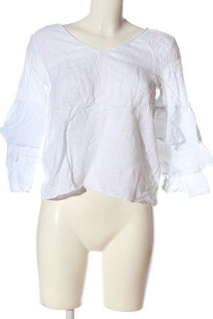 Zara Schlupf-Bluse weiß Casual-Look
