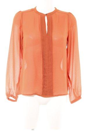 Zara Schlupf-Bluse dunkelorange Casual-Look
