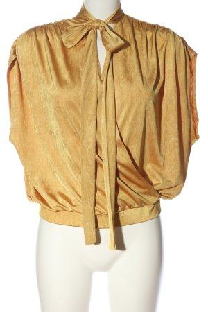 Zara Schlupf-Bluse blassgelb Casual-Look