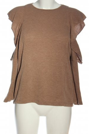 Zara Knitted Top brown flecked casual look