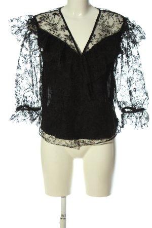 Zara Camicetta da notte nero stile casual