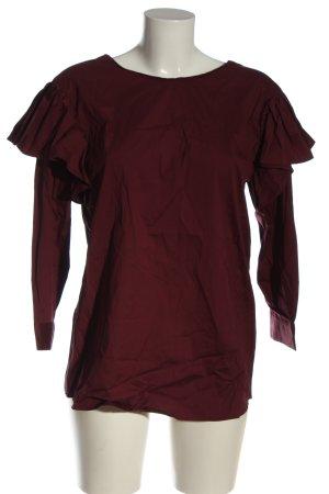 Zara Schlupf-Bluse rot Casual-Look
