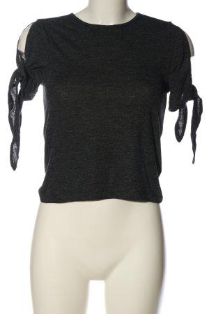 Zara Schlupf-Bluse schwarz meliert Casual-Look