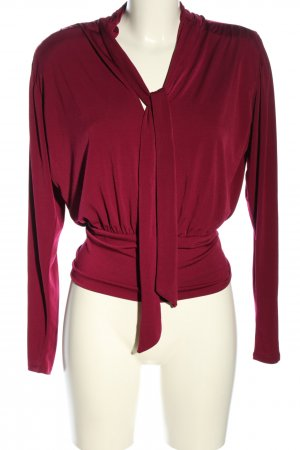 Zara Schluppen-Bluse rot Casual-Look