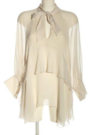 Zara Blouse avec noeuds blanc cassé style décontracté