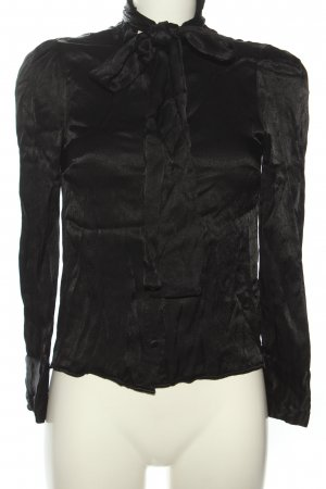 Zara Bluzka z kokardą czarny W stylu casual