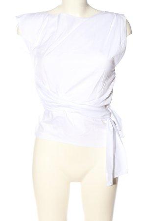 Zara Tie-neck Blouse white casual look