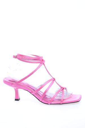 Zara Riemchen-Sandaletten pink Casual-Look