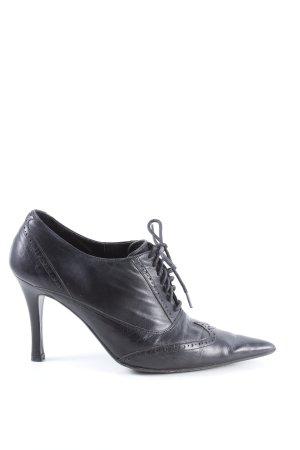 Zara Schnür-Stiefeletten schwarz Elegant