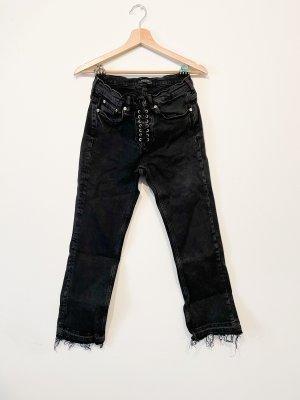Zara Jeans taille haute noir