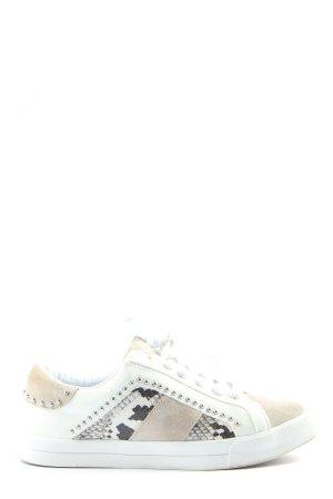 Zara Sneakers met veters dierenprint casual uitstraling