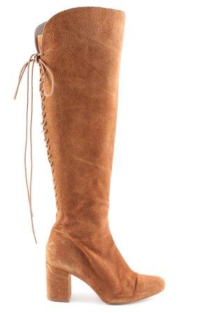 Zara Stivale stringato marrone stile casual