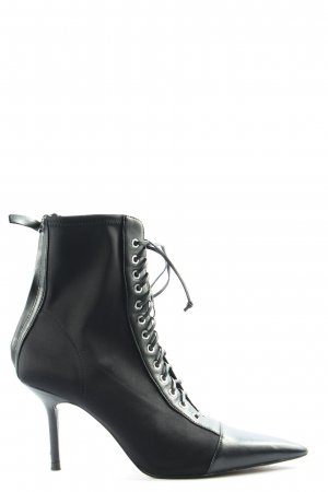 Zara Lace-up Boots black casual look