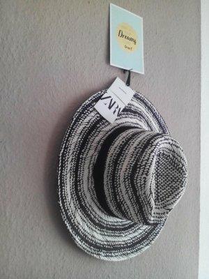 Zara Sun Hat white-black mixture fibre