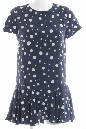 Zara Peplum Dress dark blue-white spot pattern casual look
