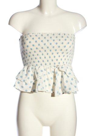 Zara Peplum Top white-blue spot pattern casual look