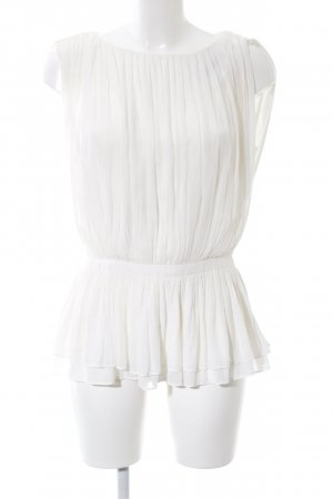 Zara Top peplum blanco look casual