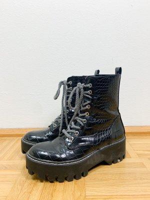 Zara Buty zimowe czarny-szary