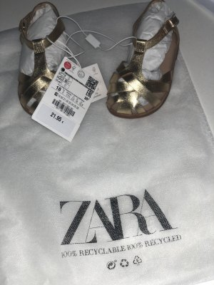 Zara Zuecos color oro