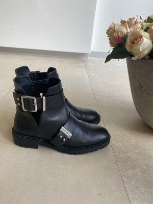 Zara Schuhe lederstiefeletten Stiefeletten Stiefel 39 schwarz